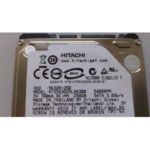 HITACHI 5K320-250 250G 5400RPM