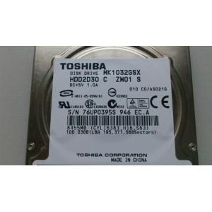 TOSHIBA MK1032GSX 100GB sATA