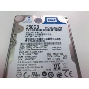 Dysk HDD WD 2500BEVT 250 GB sATA
